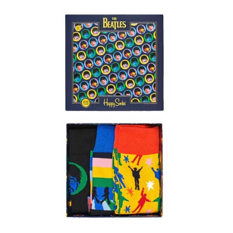 Happy Socks X The Beatles 3 Pack Gift Box