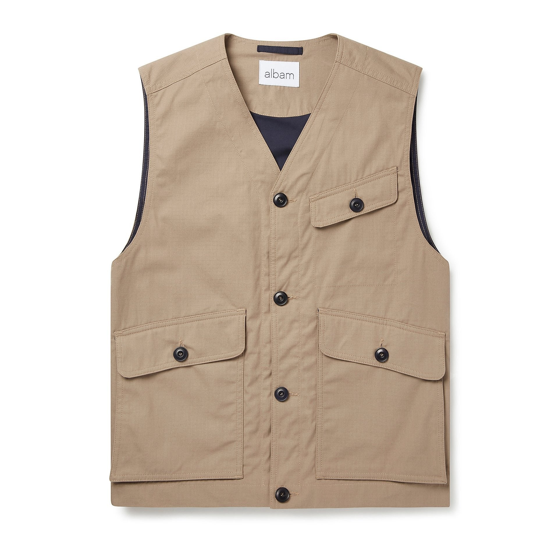 Albam Flight Vest - Taupe