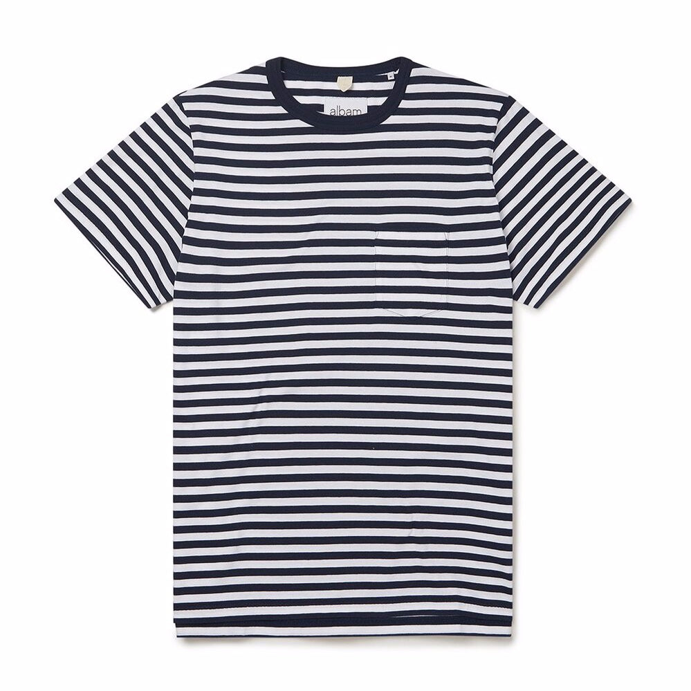 Albam Classic Stripe T-Shirt Navy/White