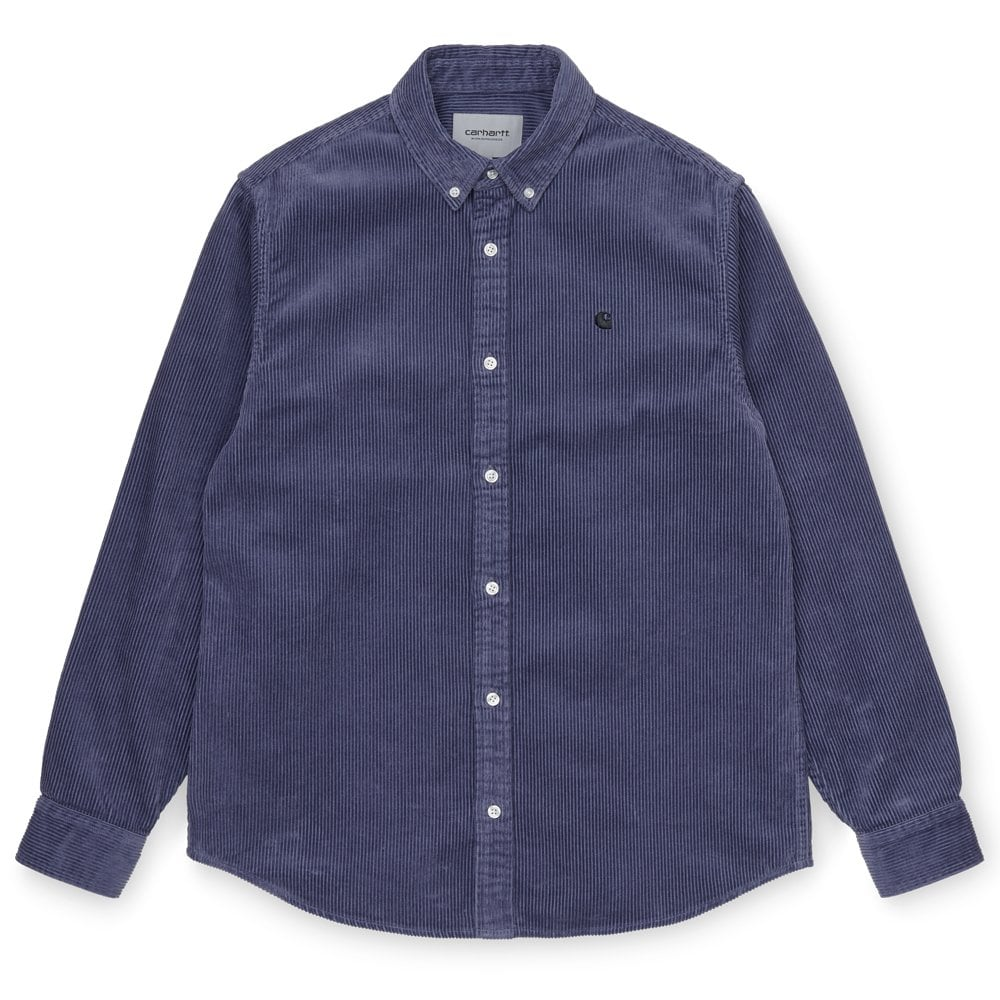 Carhartt WIP Madison Cord Shirt Cold Viola
