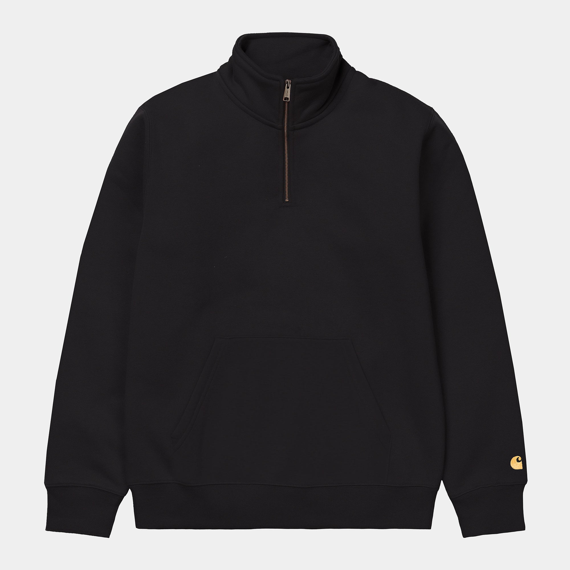 Carhartt Wip Chase Zip Neck Sweat Black / Gold