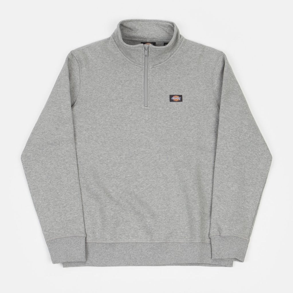 Dickies Oakport Quarter Zip - Grey Melange