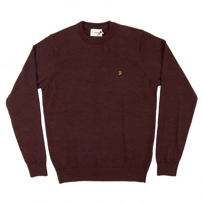 Farah Mullen Merino Sweater Bordeaux