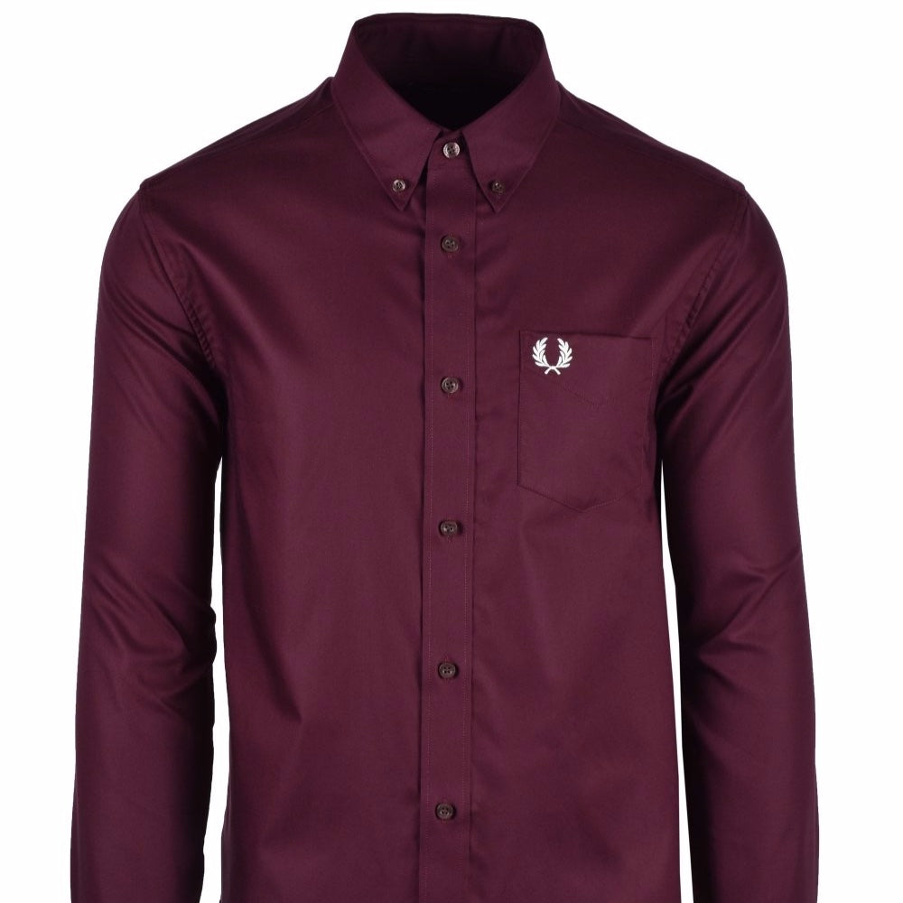 Fred Perry Oxford Shirt Mahogany