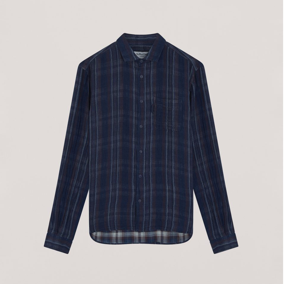 Ymc Curtis Shrt Navy Stripe
