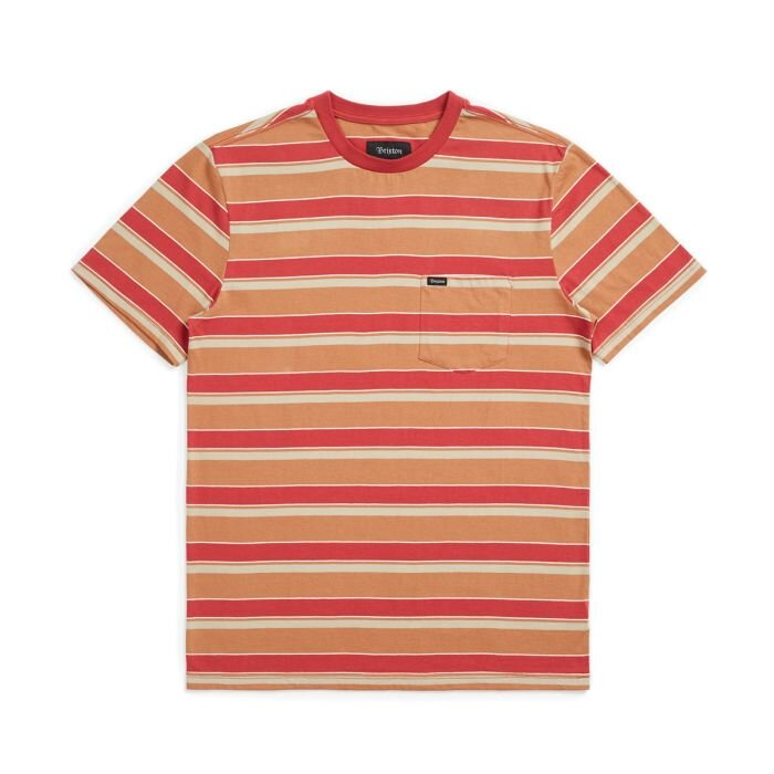 Brixton Hilt Pocket T-Shirt Lava Red