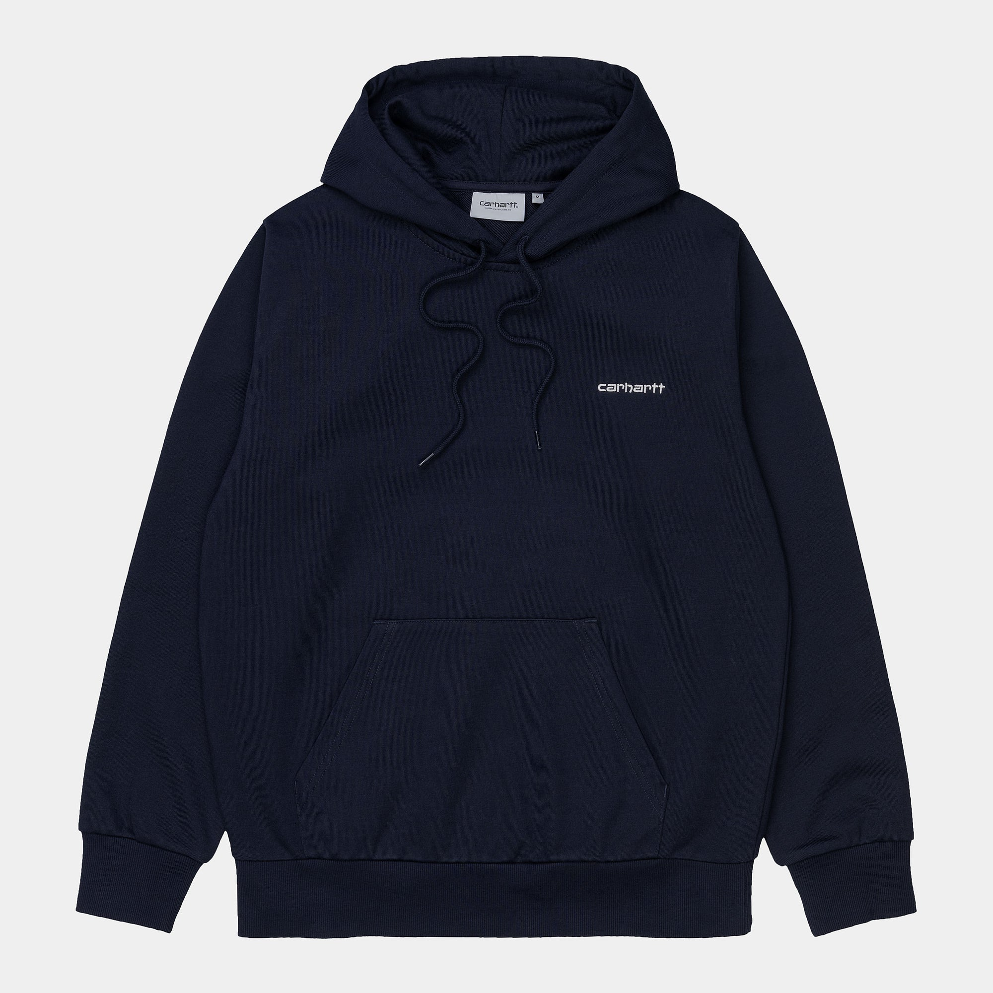 Carhartt WIP Hooded Script Embroidered Sweat- Dark Navy