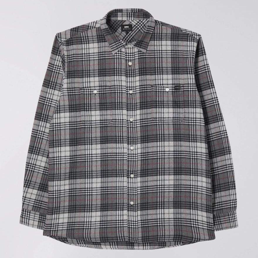 Edwin Labour Shirt Grey Mix