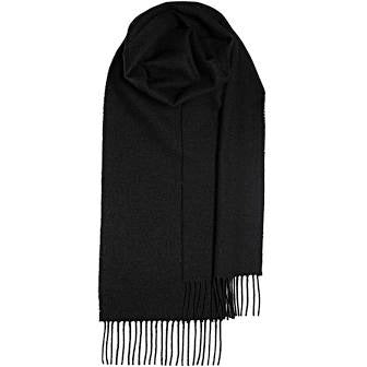 Brushwool Plain Scarf - Black