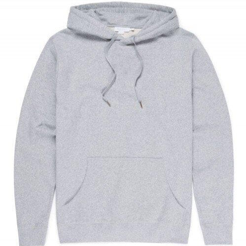 Sunspel Hooded Sweat Grey Melange