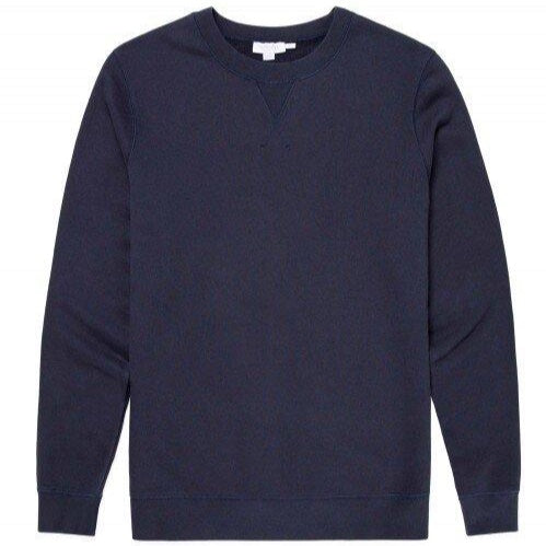 Sunspel Loopback Sweatshirt Navy