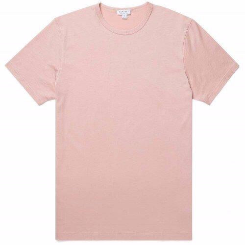 Sunspel Classic Crew T-Shirt Dusty Pink
