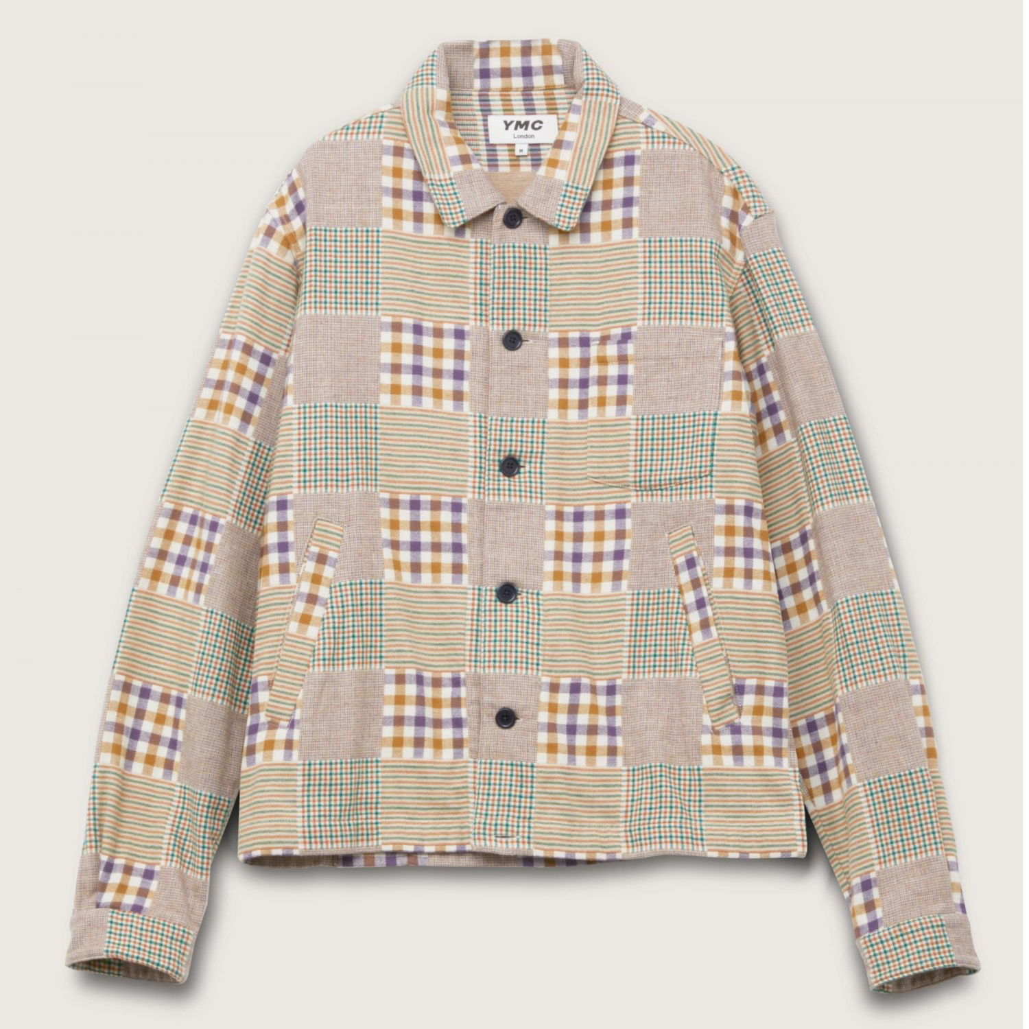 Ymc Bowling Cotton Flannel Check Shirt - Multi