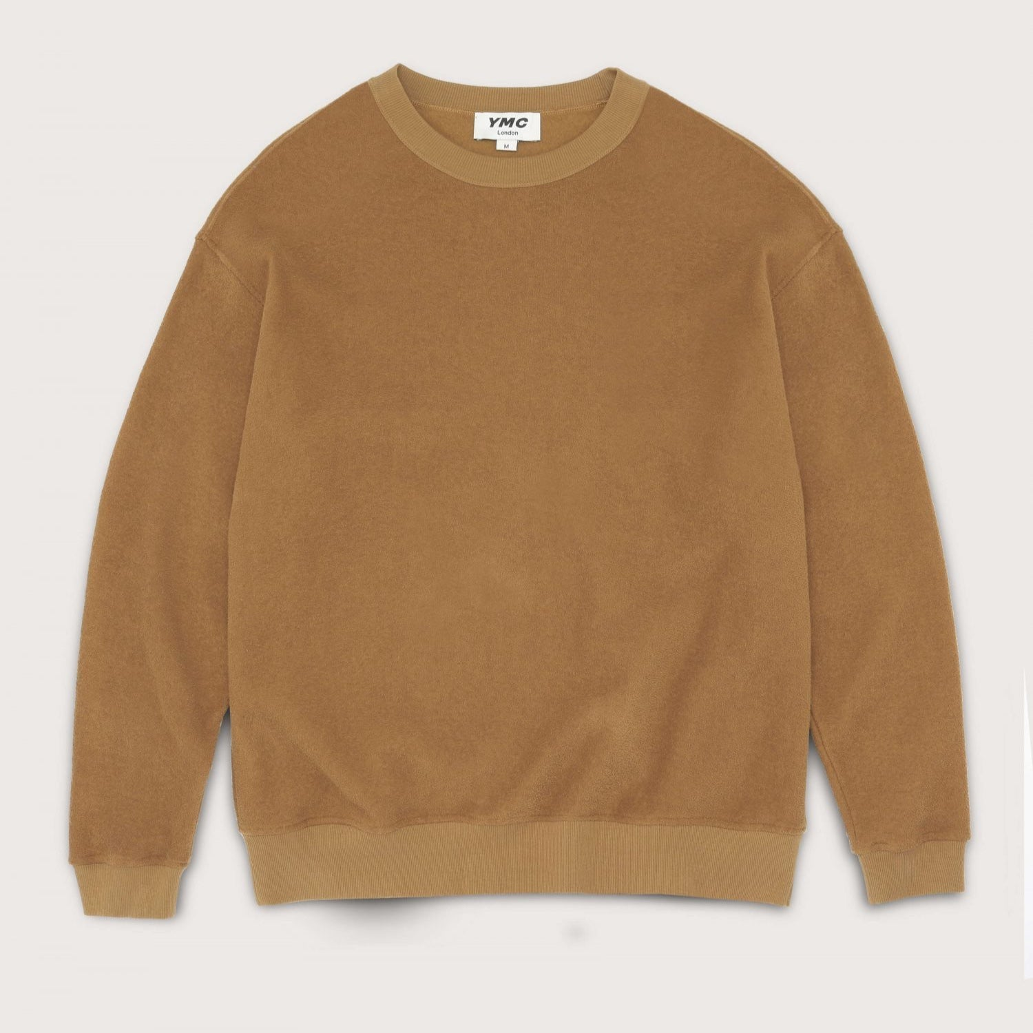 Ymc Triple Cotton Terry Sweat - Brown