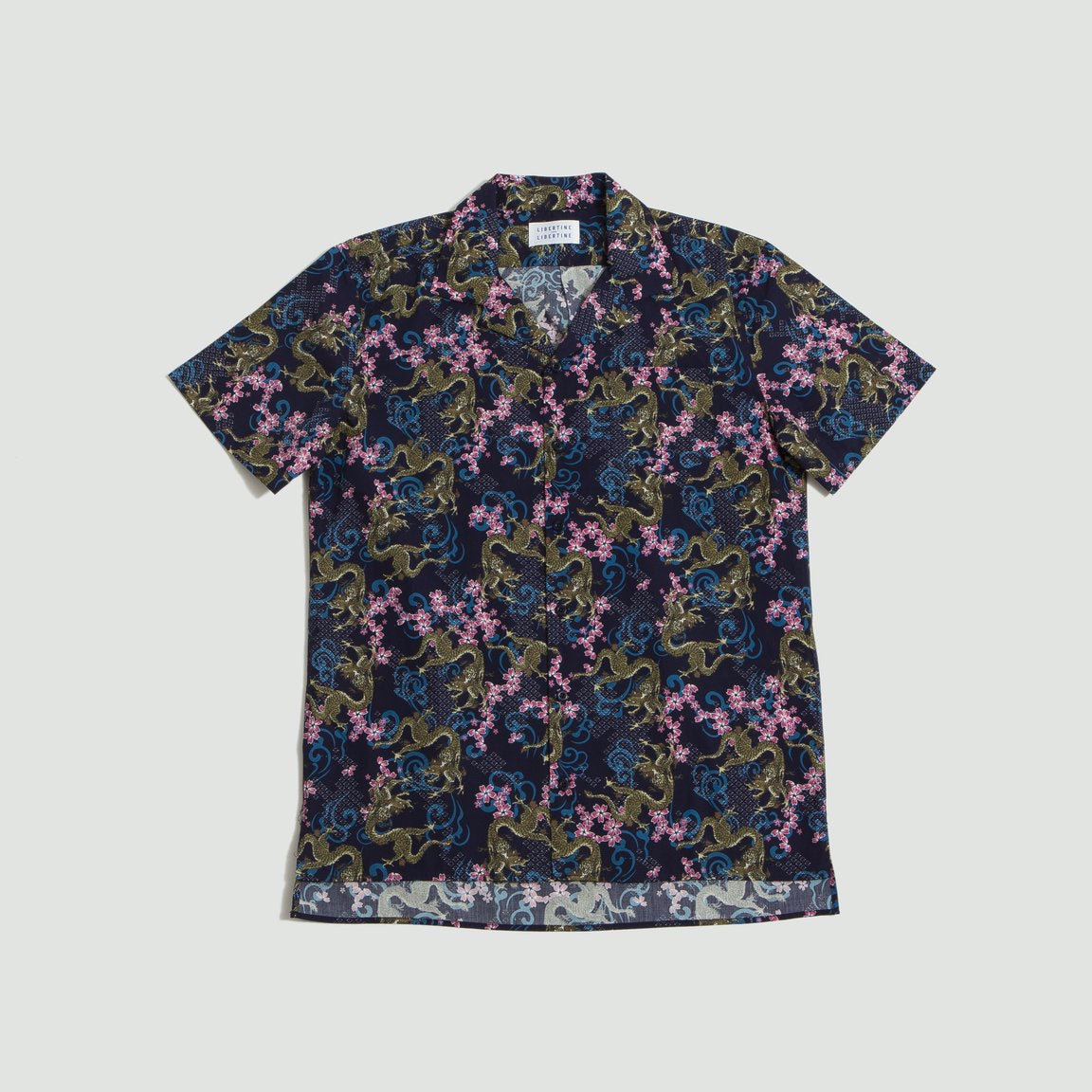Libertine Libertine Cave Shirt Navy Dragon
