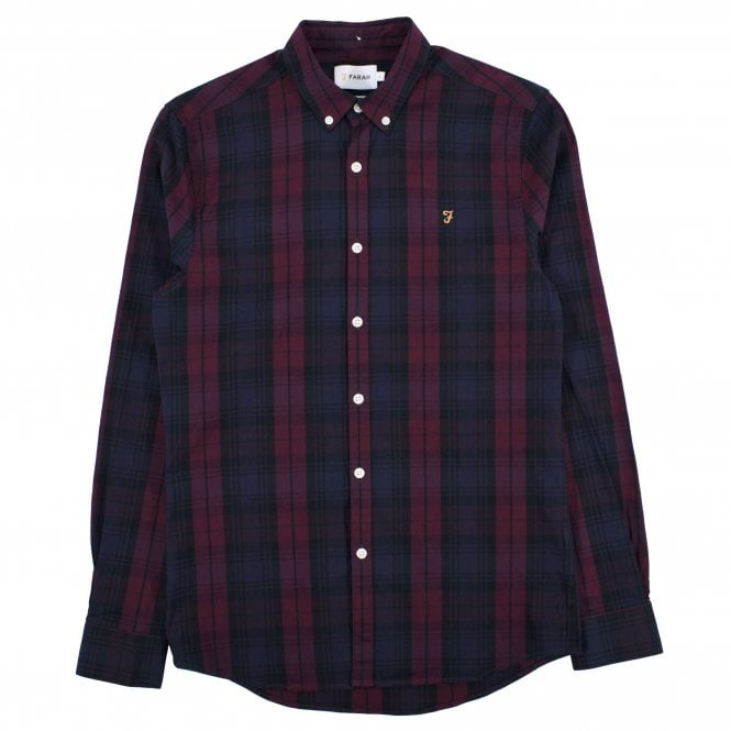 Farah Brewer Shirt Tartan  Farah Red