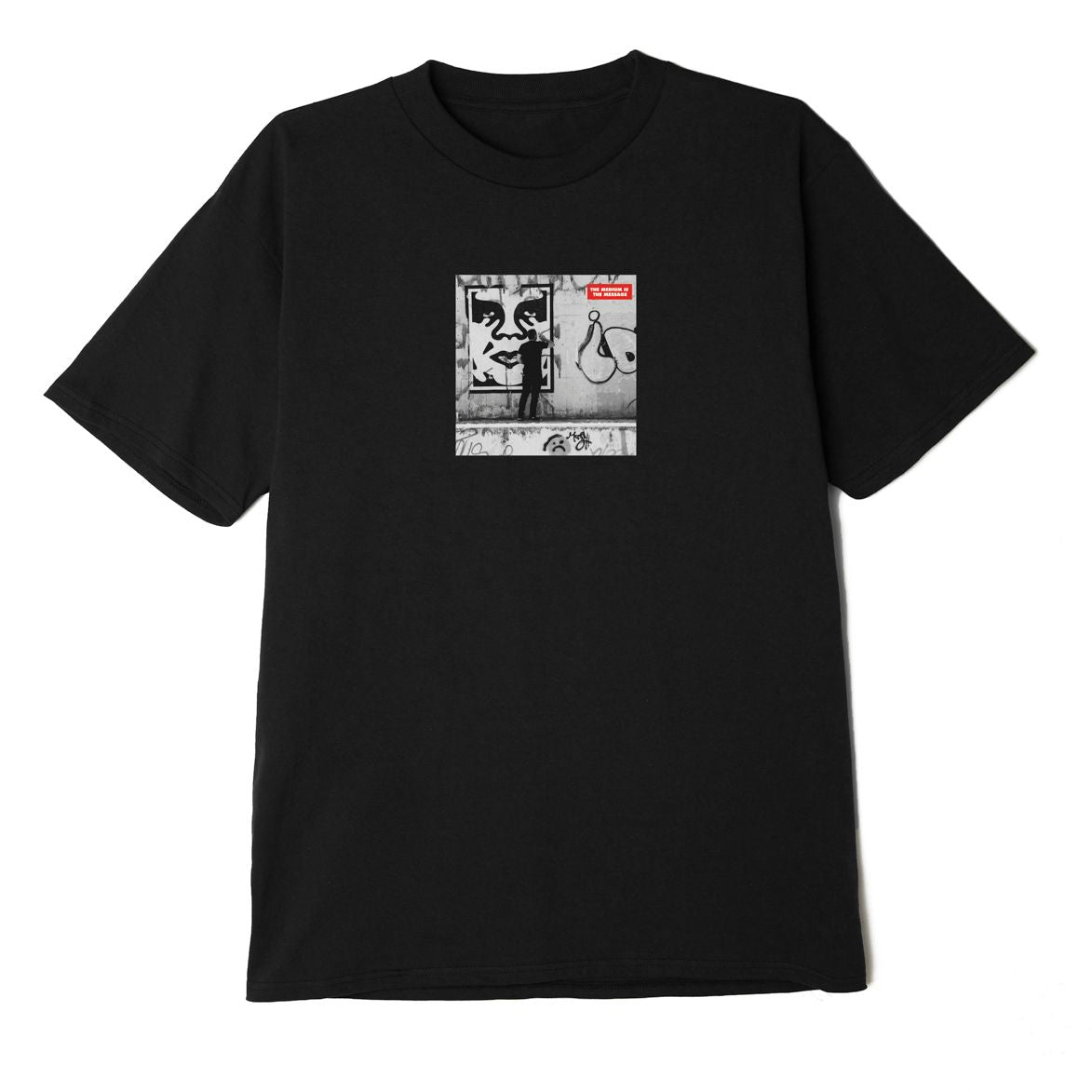 Obey Medium is the Message T-Shirt Black