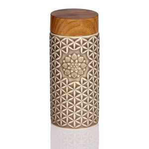 Open image in slideshow, 14 oz. Flower of Life Travel Mug ( Mocha Brown)