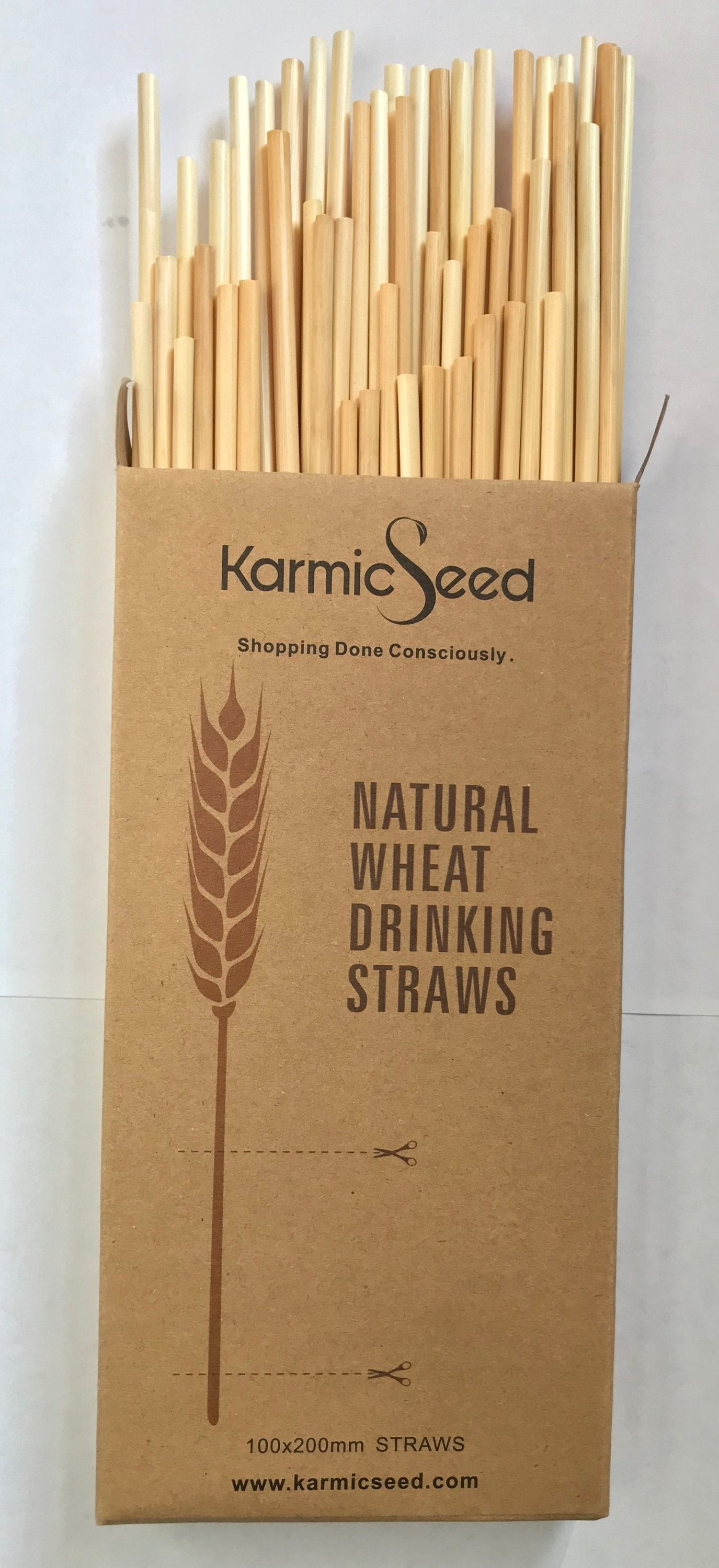 Natural Wheat Hay Drinking Straws (100 straws)