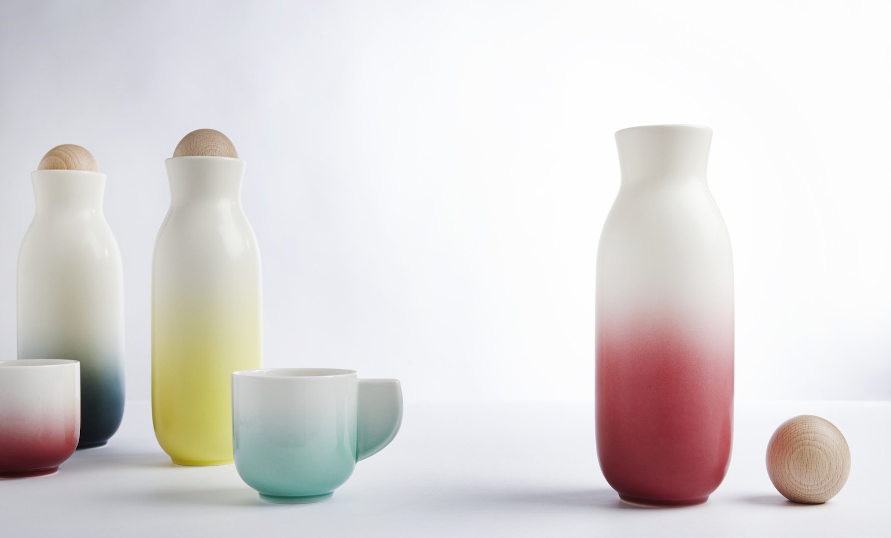 Bloom Carafe Set ( Cups with Handles)