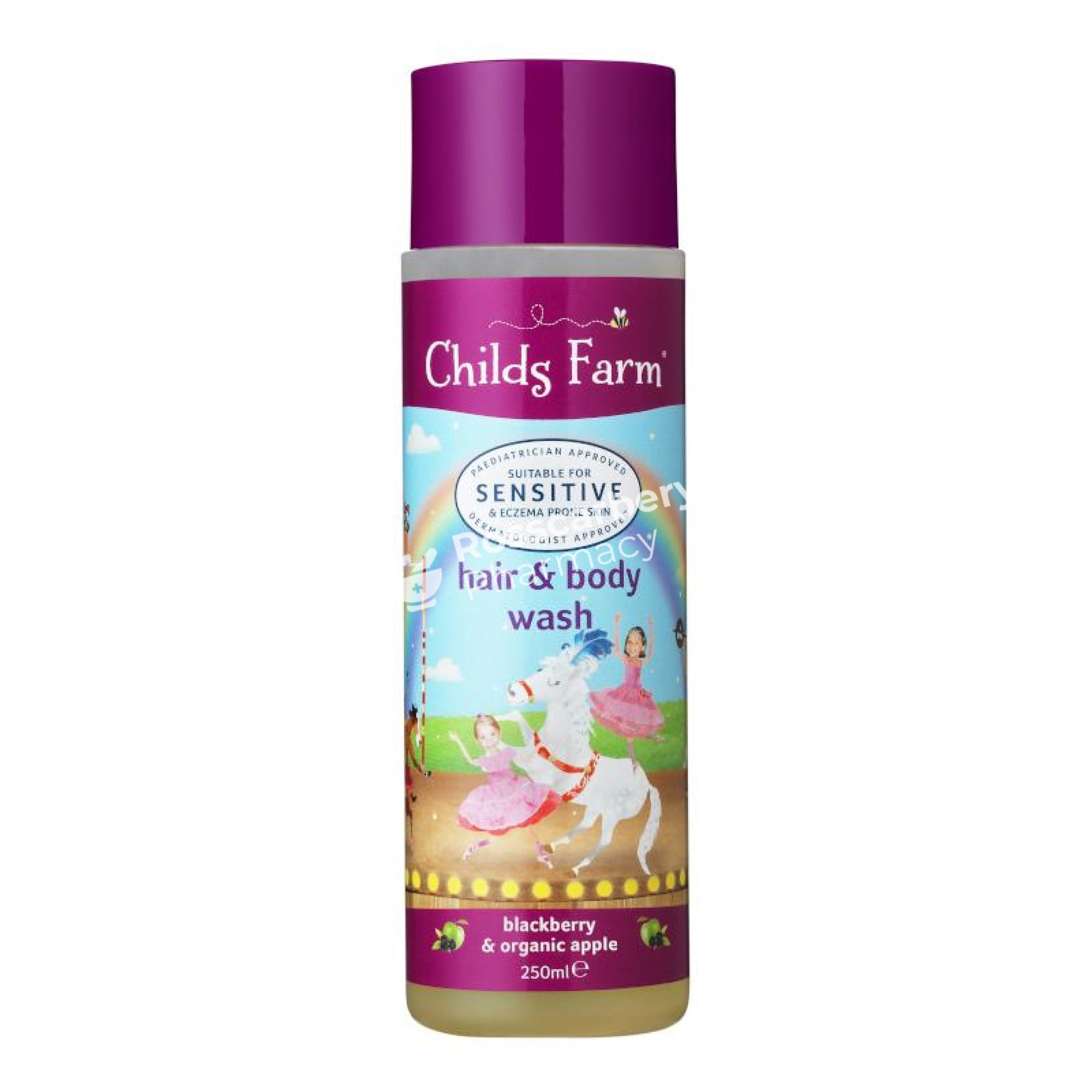 Childs Farm Hair & Body Wash - Blackberry Organic Apple Baby Bath
