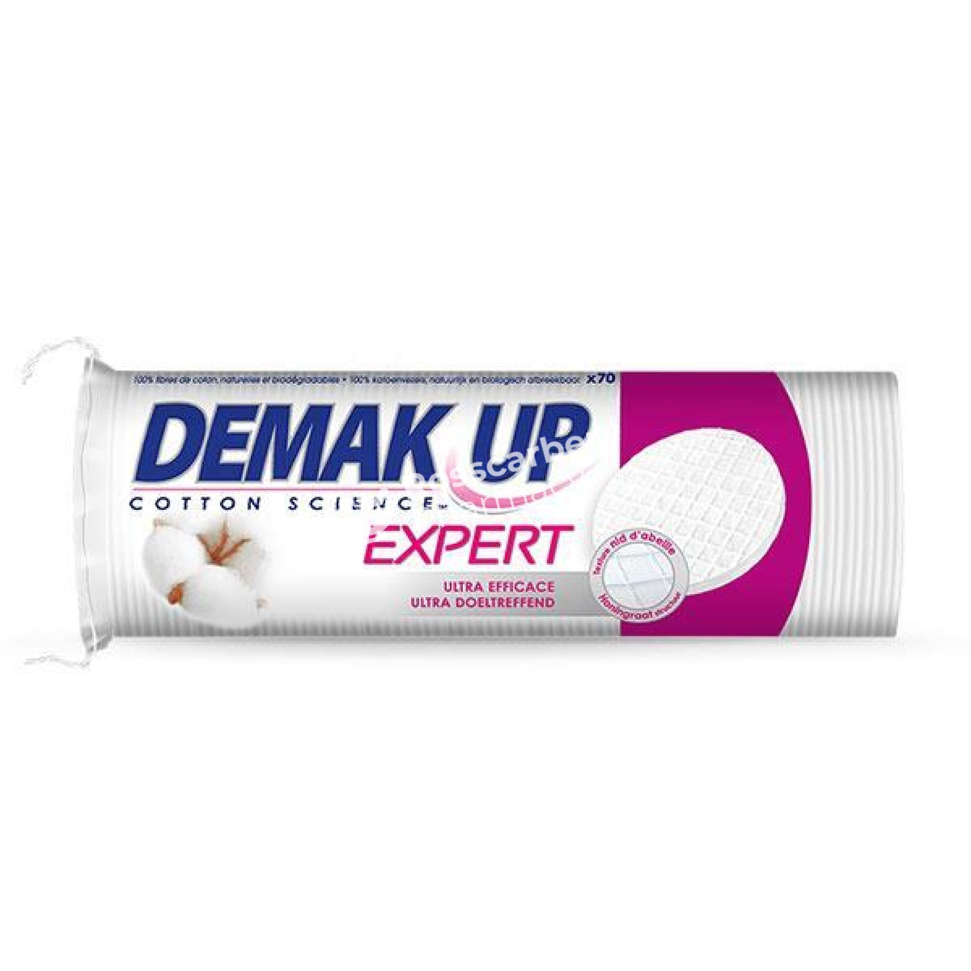 Demak Up Round Cotton Pads 84 Pads Wool Wipes & Tissues