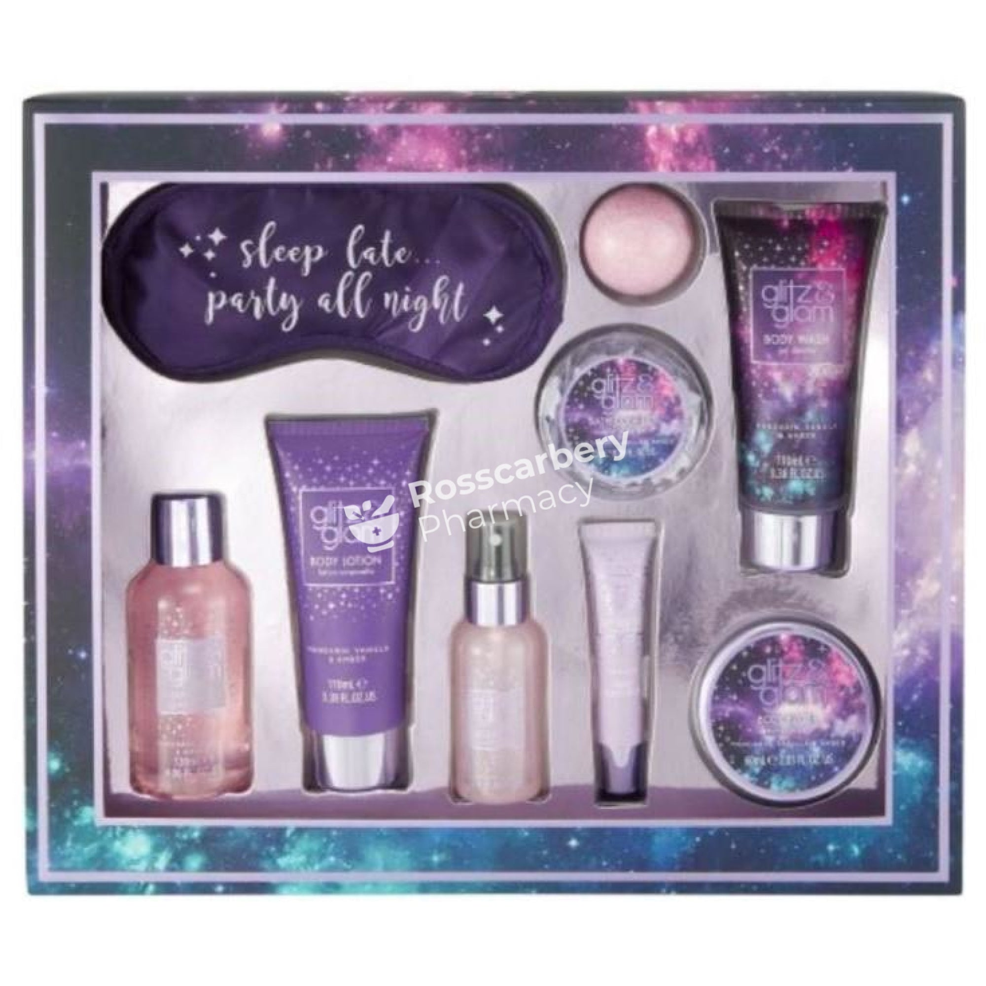 Glitz And Glam Sleep Late.... Gift Set 9Pc Skin & Bath Sets