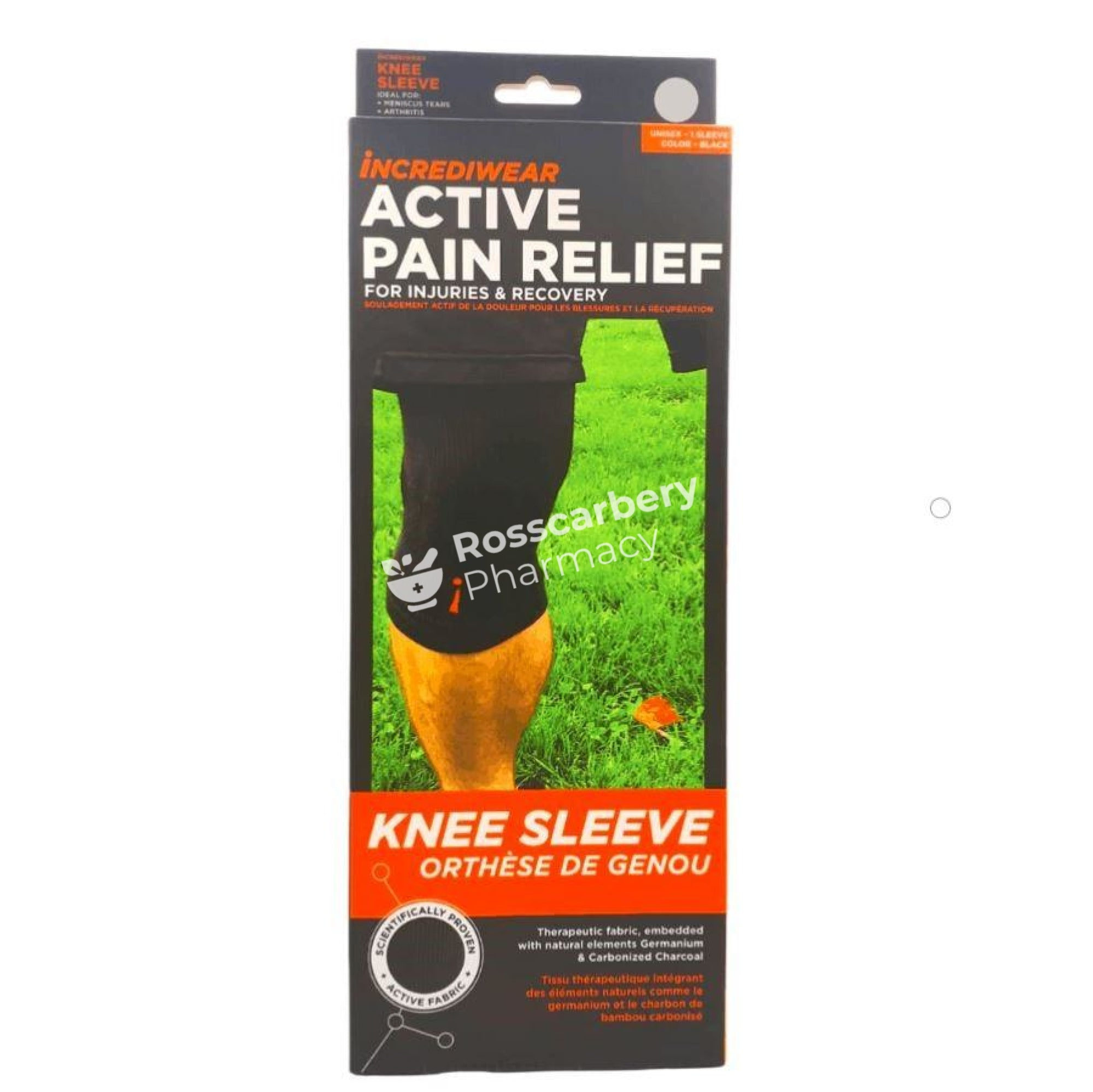 Incrediwear Active Pain Relief Knee Sleeve - Black Supports & Compression Hoisery