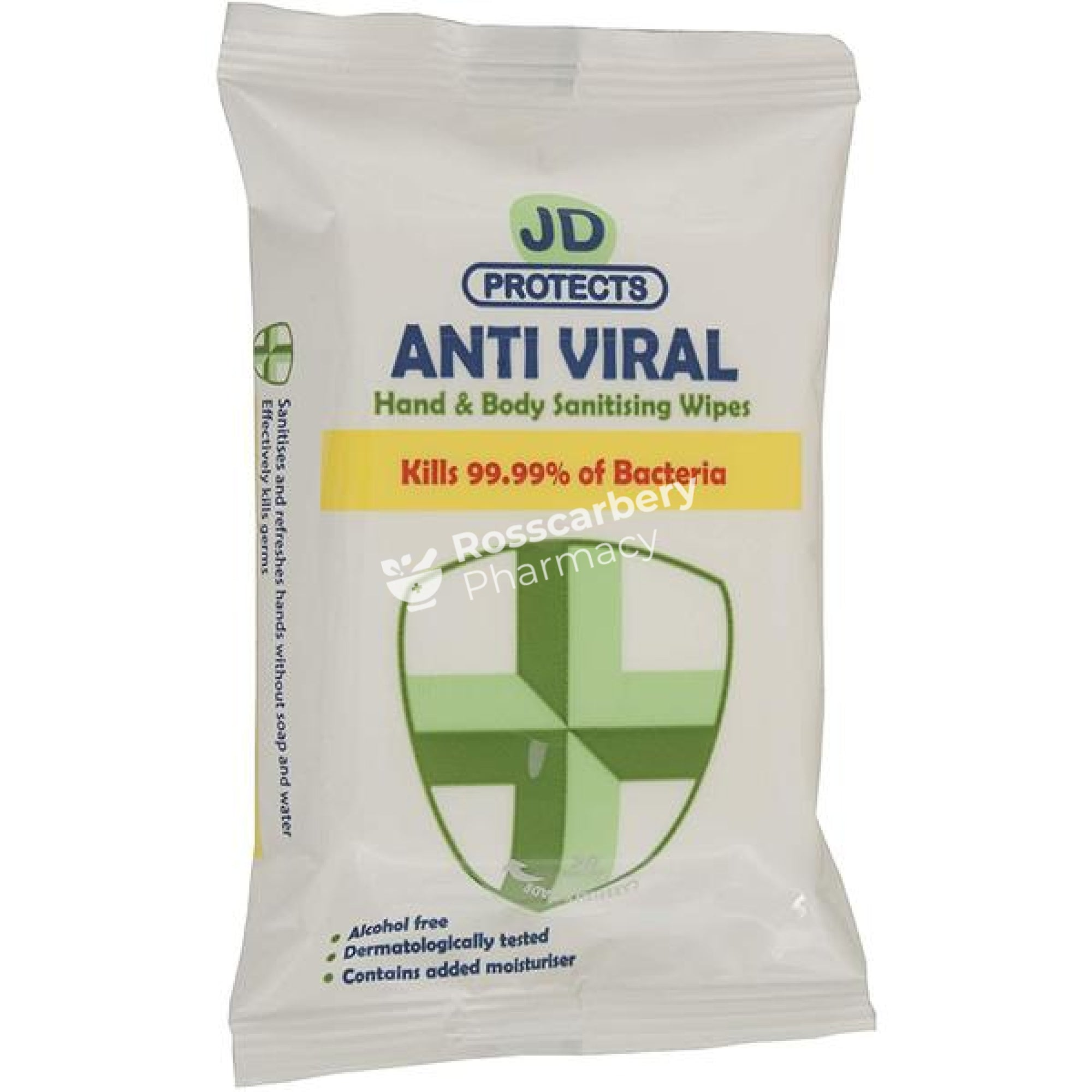 Jd Protects Hand & Body Cleansing Wipes Antiseptic Wound Healing