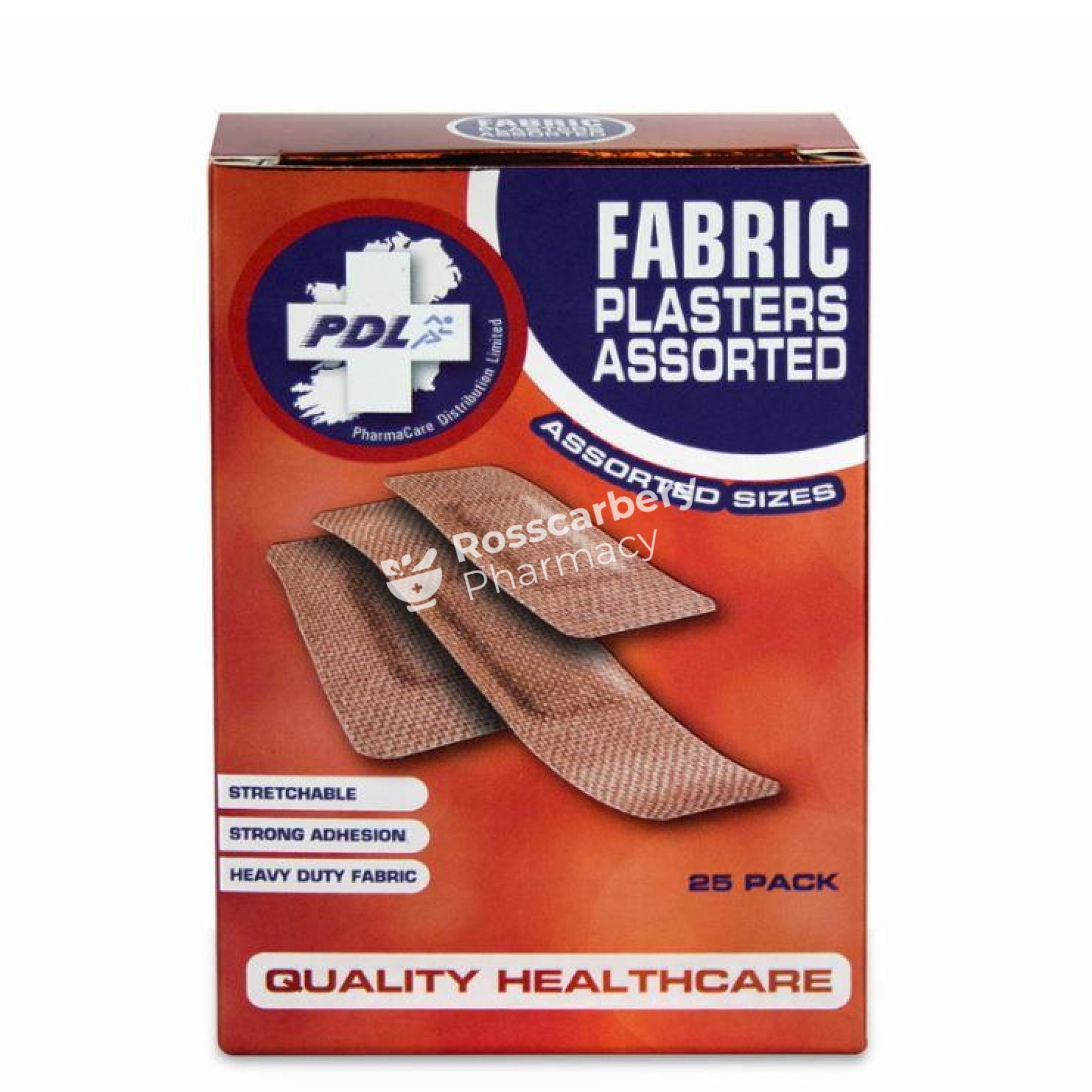 Pharmacare Fabric Plasters Assorted Sizes Bandages Dressings &