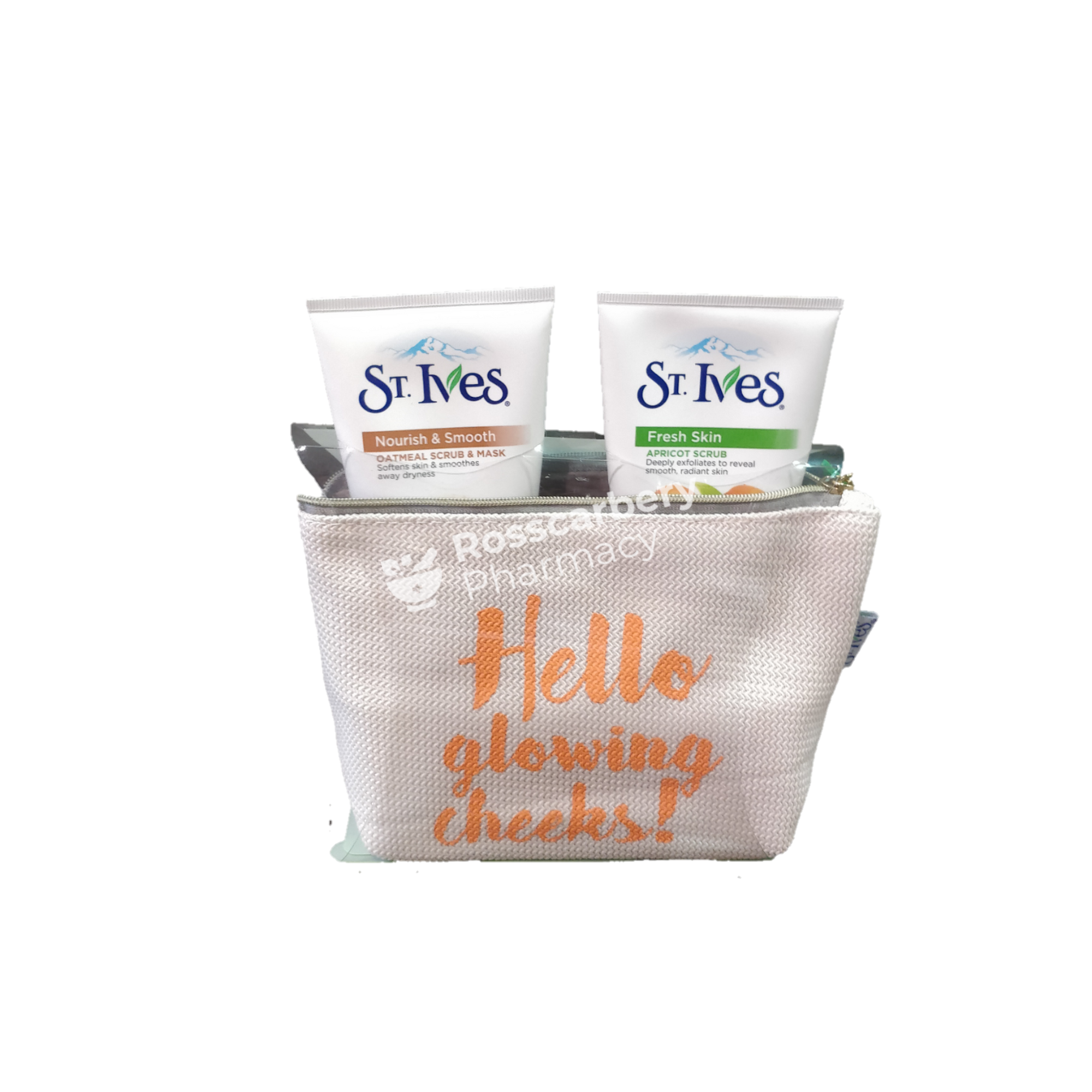 St. Ives Hello Glowing Cheeks! Gift Set 3Pc Skin & Bath Sets