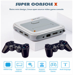 Super console X 3D mini Arcade Console Wireless controller 64GB/128GB