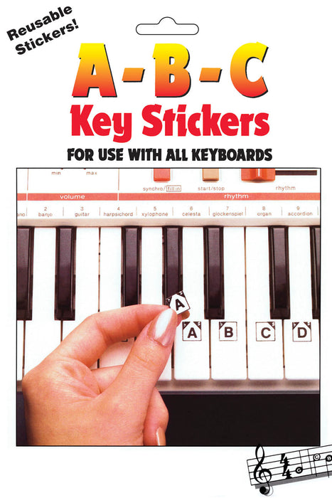 ABC Key Stickers for Keyboards and Pianos