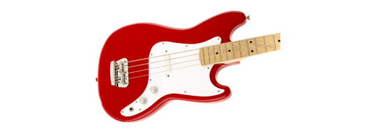 Squier Bronco Bass, Maple Fretboard, Torino Red - Fair Deal Music UK