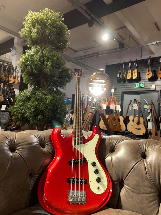 Aria Diamond Series Metallic Red Jazz Bass, Used
