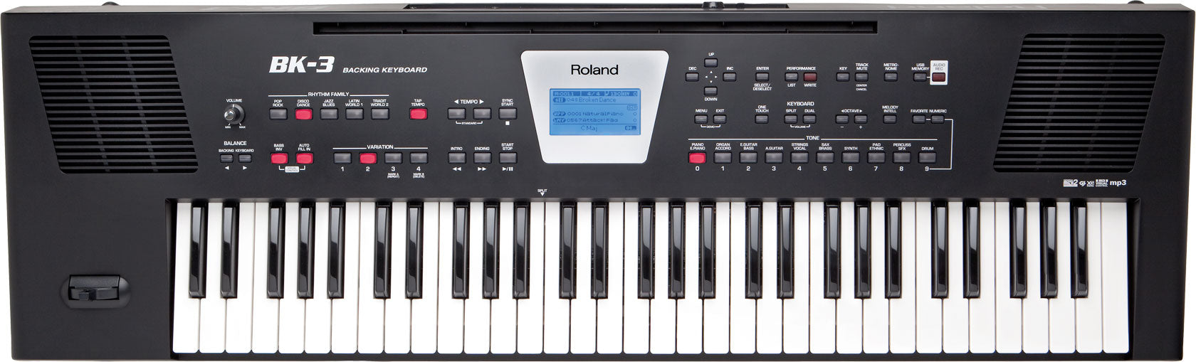 Roland BK-3 Backing Keyboard - Black