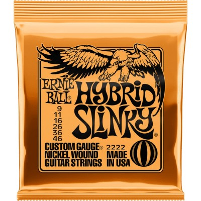 Ernie Ball 2222 Hybrid Slinky 9-46 Electric Guitar Strings
