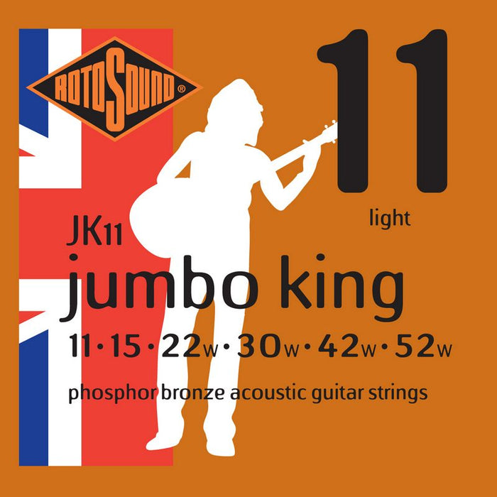 Rotosound JK11 Jumbo King 11 (11-52) Phosphor Bronze Acoustic Guitar Strings
