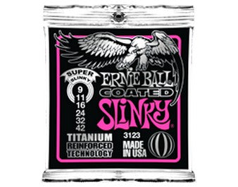 Ernie Ball Coated Titanium RPS Electric Strings, Super Slinky 9-42