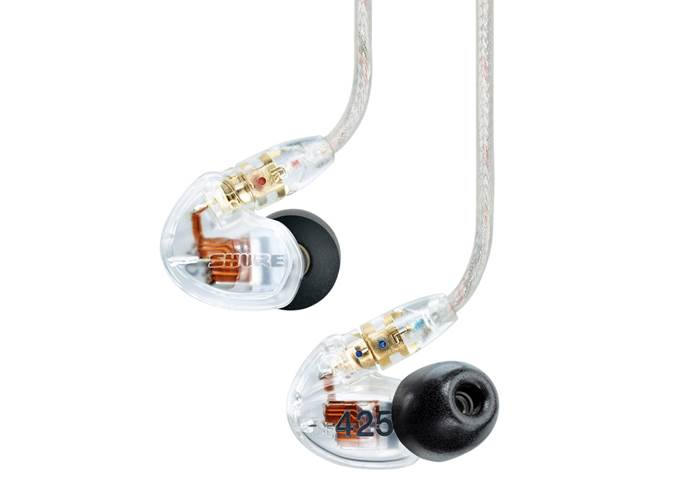 Shure SE425 Sound Isolating Headphones Clear