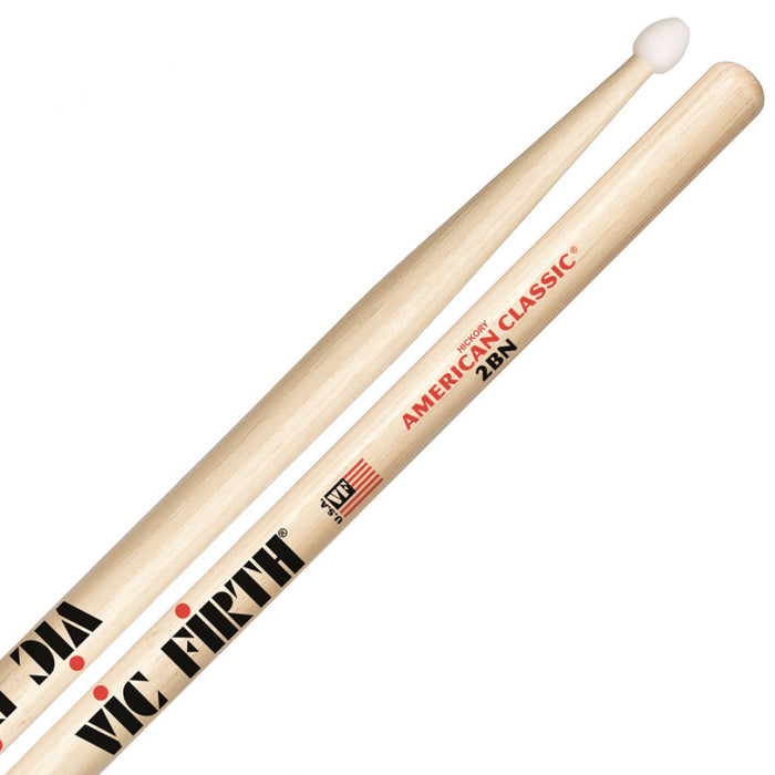 Vic Firth American Classic 2BN Drum Sticks 2b Nylon Tip
