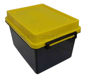 18L Storage Box Black & Yellow