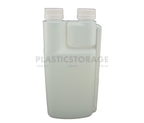 1L Double Chamber Bottle & 2 X Cap