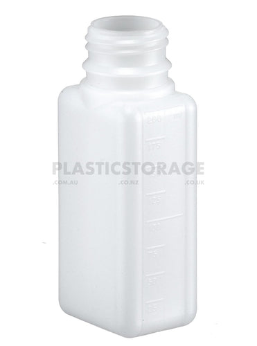 200Ml Square Bottle & Cap