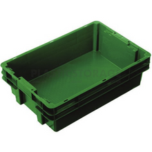 Load image into Gallery viewer, 26L Stackable And Nesting Solid Crate Base Green