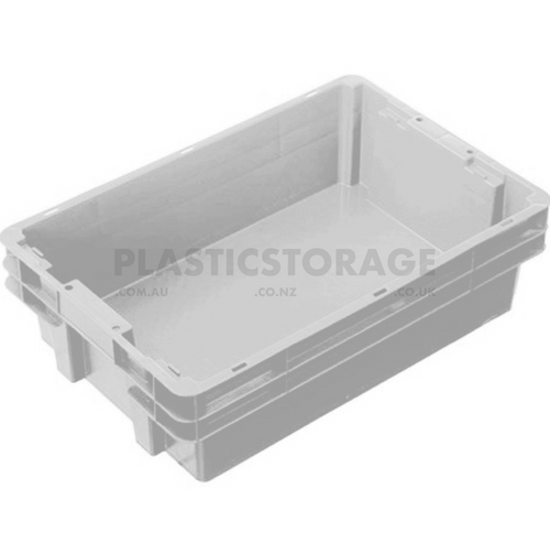 26L Stackable And Nesting Solid Crate Base Natural