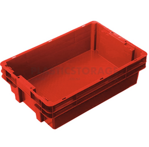 26L Stackable And Nesting Solid Crate Base Red