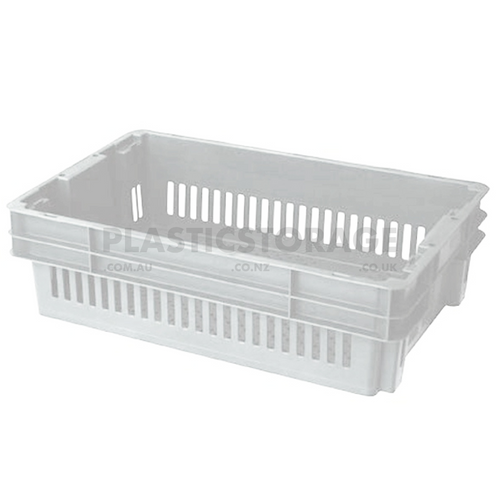 26L Stackable And Nesting Vented Crate Base Natural