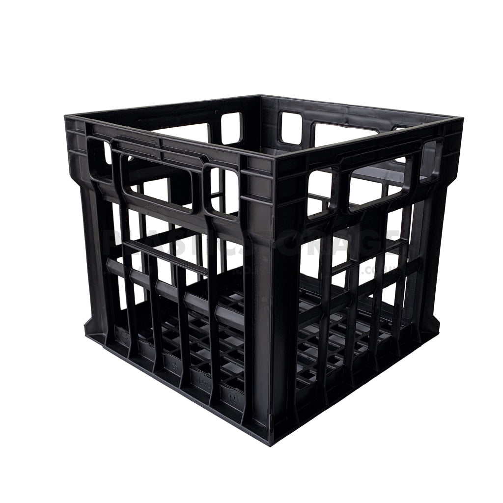 31L Milk Crate Black