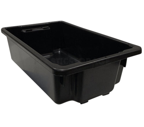 32L Stack And Nest Crate Base Black
